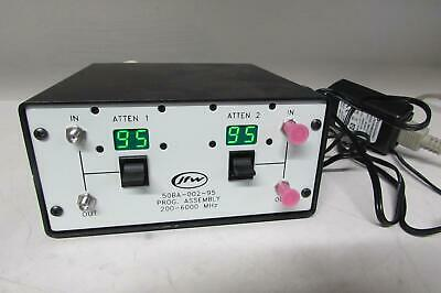 JFW 50BA-002-95 Mini Benchtop Prog. Attenuator Assembly w/ cables (ref: db)