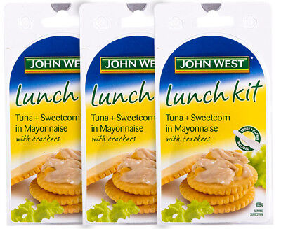 3 x John West Lunch Kit Tuna + Sweetcorn In Mayo 108g
