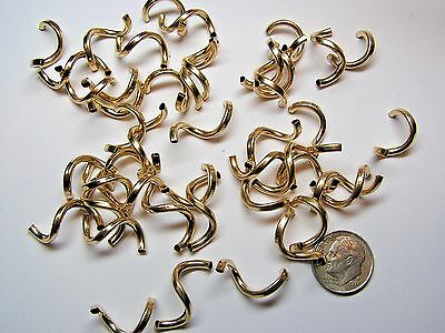 21mm X 2mm GOLD FILLED CURLY Q BEADS - BAG OF 100 PIECES - HANDMADE!