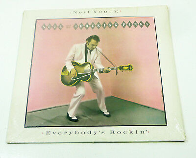 """sealed OVP Orig. 1983 LP - NEIL YOUNG """"Everybody's Rockin'"""" GEFFEN Records 80s"""