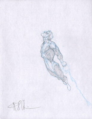 SIGNED Angel Medina Original DC Comic JLA Art Prelim Sketch ~ Green Lantern