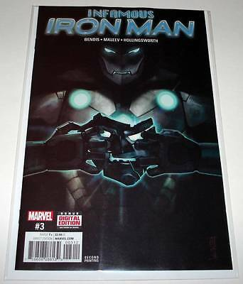 Dr. Doom INFAMOUS IRON MAN # 3 Marvel Comic  2017  2nd PRINTING VARIANT COVER