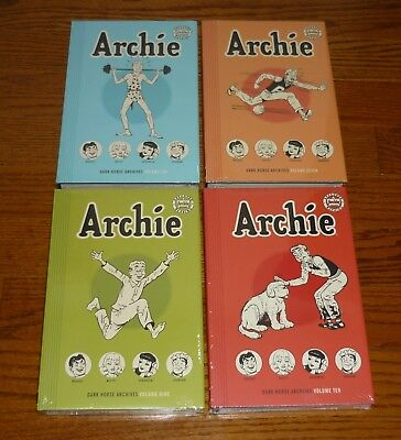 Archie Archives Volumes 6, 7, 9, 10, SEALED, Dark Horse Comics hardcover books
