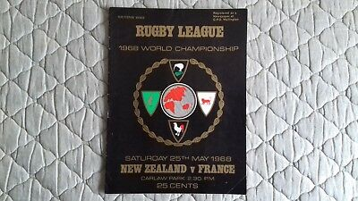 New Zealand V France Rugby League World Cup Match Programme 1968