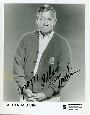 Allan Melvin On Andy Griffith Show Signed Photo