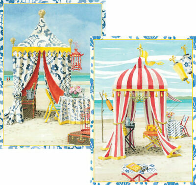 Oasis by Harrison Howard 8 Notelets Greeting Cards 15cmx10cm 4 each of 2 designs