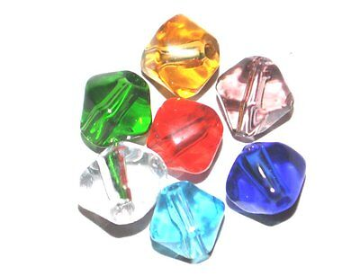 1000 CRYSTAL GLASS COLOURED CRAFTING BICONE JEWELLERY CRAFT BEADS - 4mm 6mm