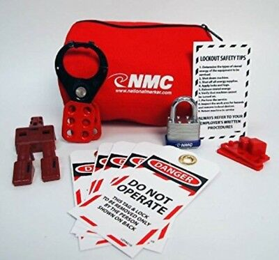NMC BLOK4 12 Piece Economy Electrical Lockout Tagout Pouch Kit Tool