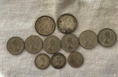 Mixed Lot CANADA Coins 5, 10, 25 Cents from the 1960's