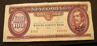 HUNGARY   1992   ( 100 Forint )   -  Currency note---Circulated