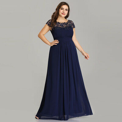 Us Navy Blue Long Bridesmaid Wedding Dresses Lace Evening Gown 09993 Ever Pretty