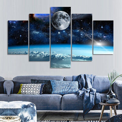 5Pcs HD Unframed Canvas Print Home Decor Wall Art Space Design Painting Picture