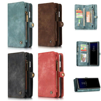 CaseMe Leather Magnetic Buckle Case & Wallet Flip Stand Cover for Samsung Note 8