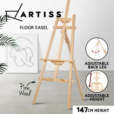 Pine Wood Easel Artist Art Display Painting Shop Adjustable Tripod Stand Wedding