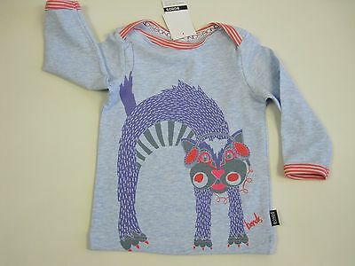 Bonds Baby Stretchies Long Sleeve Tee Top size 00 Colour Blue Print