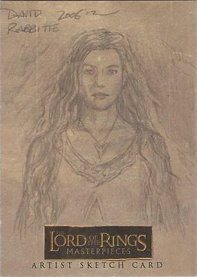 """Lord of the Rings Masterpieces - David Rabbitte """"Arwen"""" Sketch Card"""