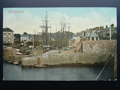 Cornwall CHARLESTOWN showing Harbour - Old Postcard by The Meeks Own Series