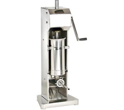 Quattro 3ltr Sausage Stuffer - Filler - Maker. Stainless Steel. Low UK Price.