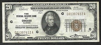 US - National 20 Dollar FRBN - 1929 - Chicago Fed. - XF condition