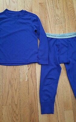 Fruit of the Loom Little Boys long underwear top and bottom royal blue 4/5