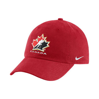 2018 Team Canada IIHF WJC Red Adjustable Buckle Strap Hockey Cap Hat  One Size