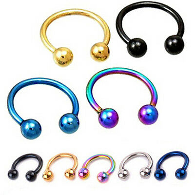 4Pcs Fake Clip On Spring Nose Hoop Ring Ear Septum Lip Eyebrow Earring Piercing/