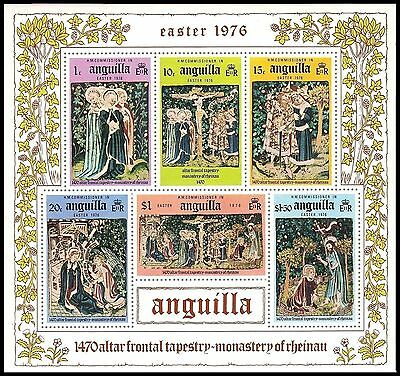 ANGUILLA 258a (SG254) - Easter Tapestry Souvenir Sheet (pf19772)