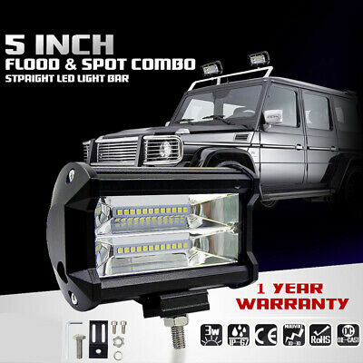 72W SPOT LED Off road Work Light Lamp 12V 24V car boat Truck Driving UTE ATV