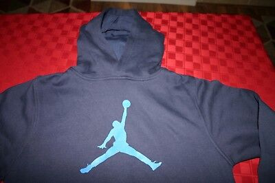 Boys Nike Jordan Jumpman Pullover Hoodie Jacket Navy Blue Youth Large Nwt