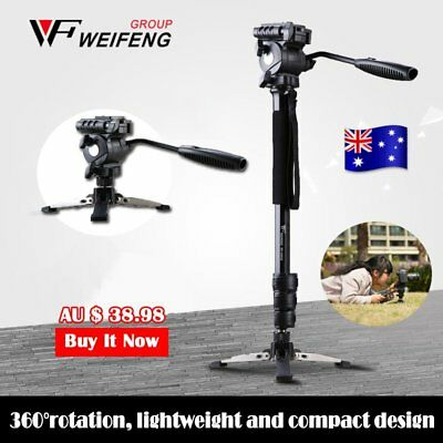 Camera Monopod Tripod Unipod Fluid Head Holder Travel DSLR Camcorder Video DV OZ