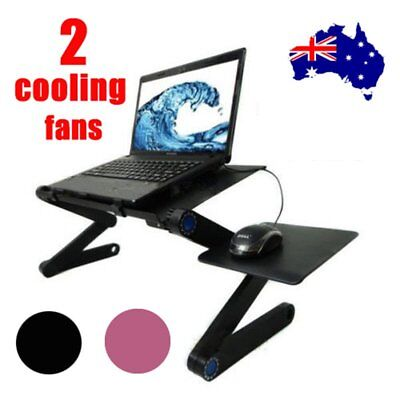 Laptop Computer Notebook Table Stand Desk Bed Tray Adjustable Folding Portable