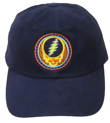 Hats New Authentic Grateful Dead Orange Sunshine Embroidered Ball Cap in Navy