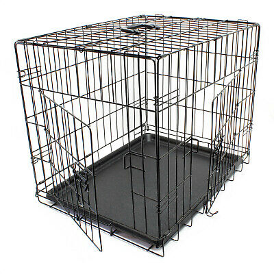 Hunde Transportbox klappbar Kennel Gittertransportbox Drahtkäfig Haustier S