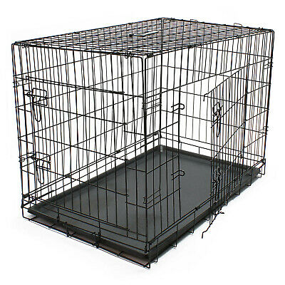 Hunde Transportbox klappbar Kennel Gittertransportbox Drahtkäfig Haustier M