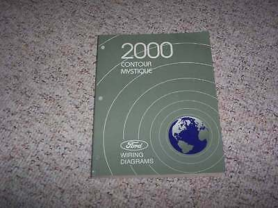 2000 Mercury Mystique Electrical Wiring Diagram Manual GS LS 2.0L 2.5L 4Cyl V6