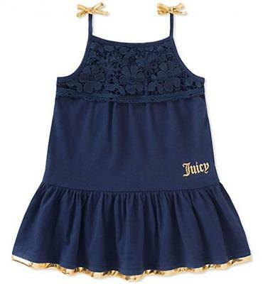 Juicy Couture Big Girls Navy Blue & Gold Size 7 8/10 12 $75