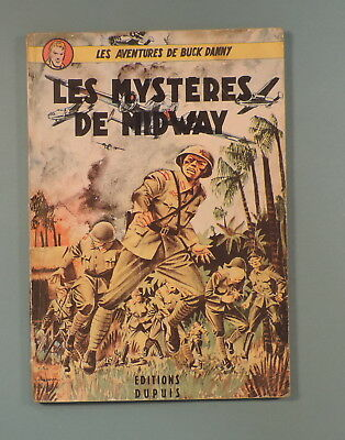 Buck Danny 2 Mysteres de Midway Hubinon Charlier Reedition 1952 Dupuis