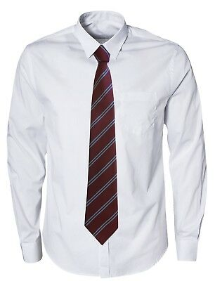 Club Tie West Ham United Football Colours Claret + Sky Blue