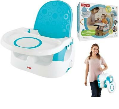 Fisher Price Deluxe Quick Clean Portable Booster Seat Child Kid Baby Infant New