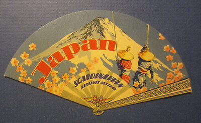 Old Vintage - Scandinavian AIRLINES - JAPAN - Baggage / Luggage LABEL