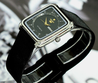 Vintage Slim/Thin Case Japan Made Seiko 5 Square Automatic 17Jewels Men's Watch2
