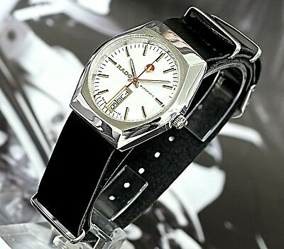 Vintage Rado Voyager Swiss Made 17Jewels Ss Automatic Men's Watch Military Strap