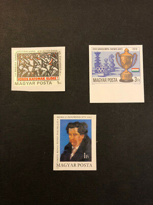 Hungary Scott No. 2569, 2571, 2584 MNH Imperforate Imperf Imp Stamps of 1979