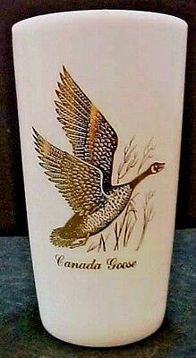 Canadian Canada Goose vintage milk white old Federal glass drink tumbler FREE SH