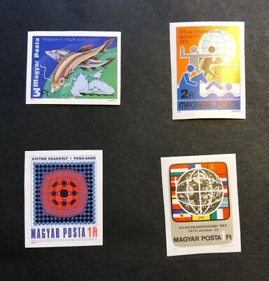 Hungary Scott No. 2599,2600,2609,2610 MNH Imperforate Imperf Imp Stamps of 1979