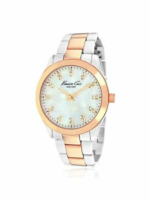 Kenneth Cole New York KCW4029 Three-Hand Brass Crystals Two-Tone Large Womens Wa