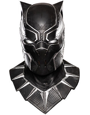 Civil War Captain America Black Panther Latex Over Head Cat Mask  Adult