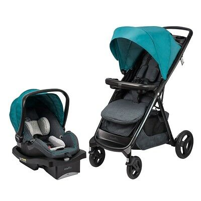 Evenflo Lux24 Travel System with LiteMax Infant Car Seat, Deep Lake