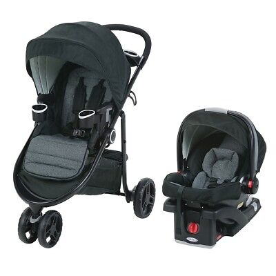 Graco Modes 3 Lite Travel System with SnugRide Click Connect 35 Infant Car Seat