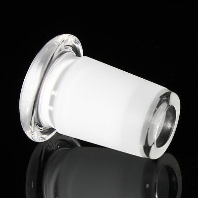 14mm Female To 18mm Male Short Expander Reducer Glass Adapter Connector Clear